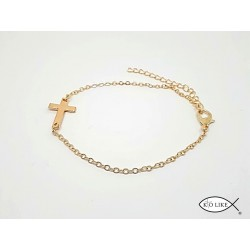 Bracelet Croix dorée