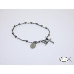 Bracelet Argent rodhié Dizanier 3mm