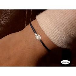 Bracelet medaille miraculeuse Argent
