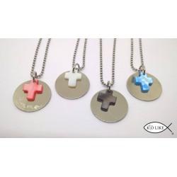 Collier Médaille + Croix